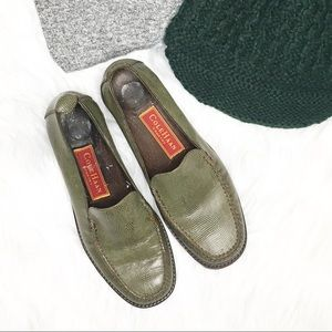 Cole Haan Country Green Lizard Leather Loafers